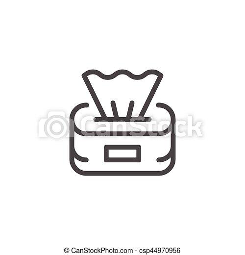 Paper napkins line icon - csp44970956