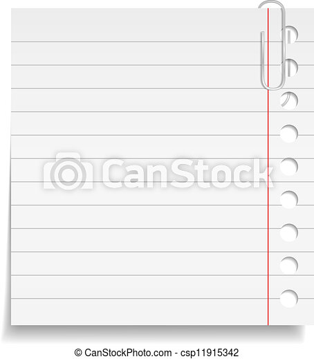Paper note with clip - csp11915342