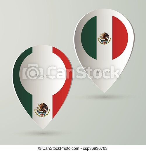 paper of map marker for maps mexico csp36936703