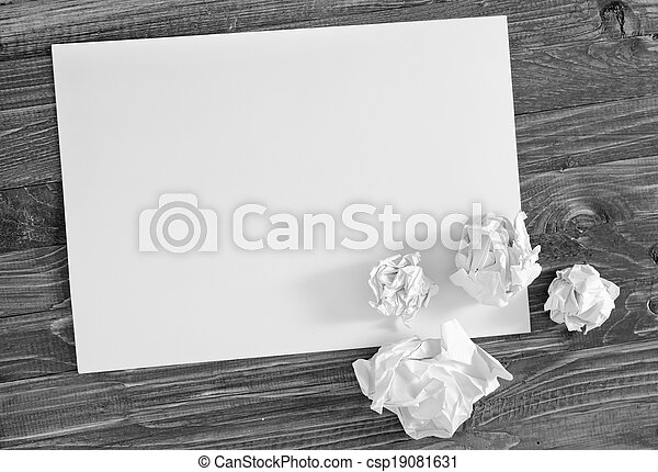 paper on wooden background - csp19081631