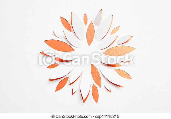 Paper origami flower on white background greeting card stock paper origami flower csp44118215 mightylinksfo