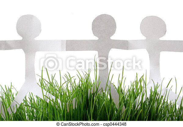 Paper People Grass - csp0444348