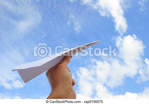 Paper Plane Launch - csp0156575