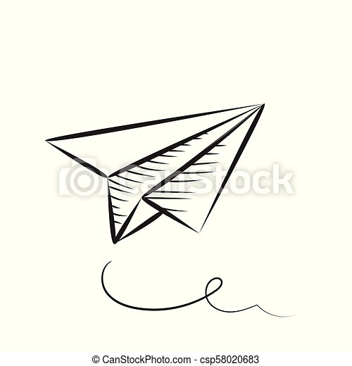 Paper Plane Sketched Icon Sketched Paper Plane Vector