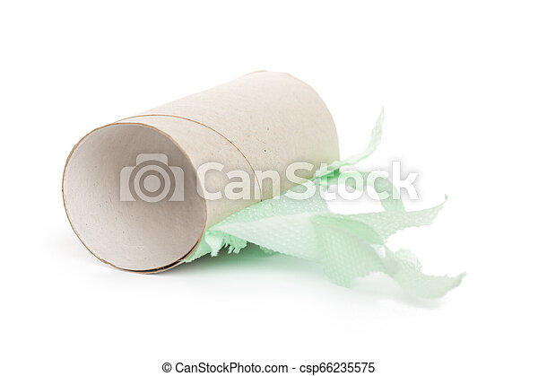 paper roll on white background - csp66235575