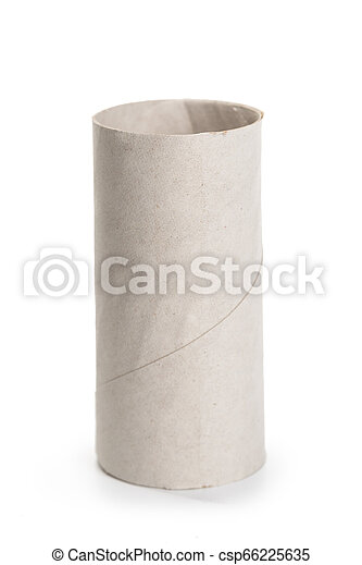 paper roll on white background - csp66225635