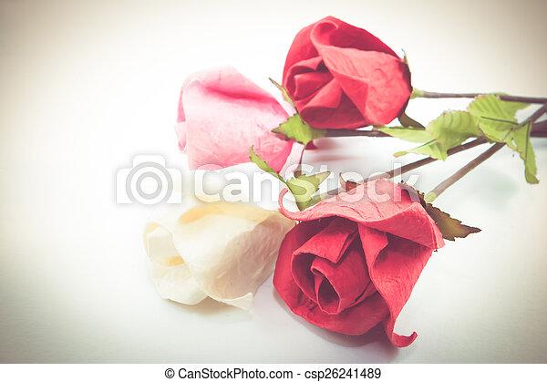 Paper rose - csp26241489