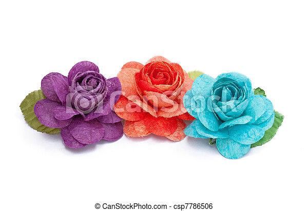 Paper rose - csp7786506