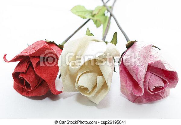 Paper rose - csp26195041