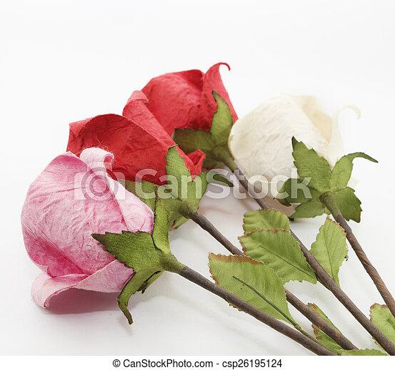 Paper rose - csp26195124