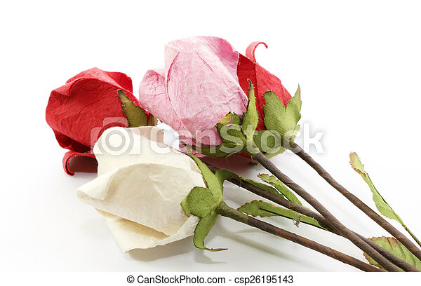 Paper rose - csp26195143