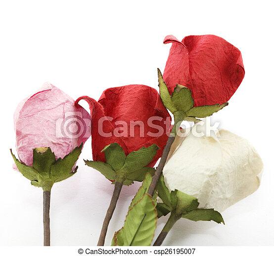 Paper rose - csp26195007