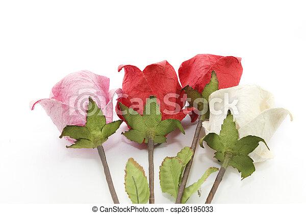 Paper rose - csp26195033