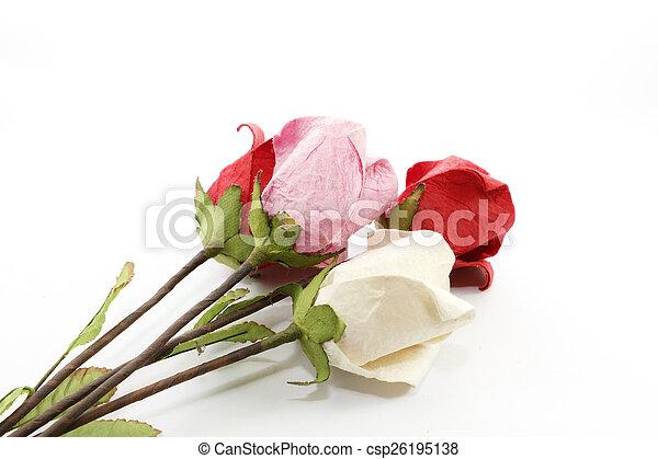 Paper rose - csp26195138