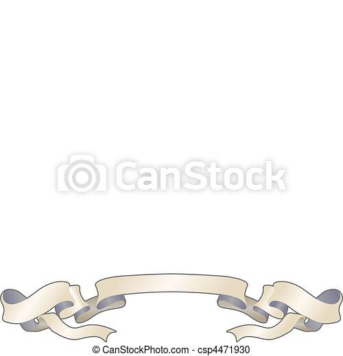 paper scroll design element  - csp4471930