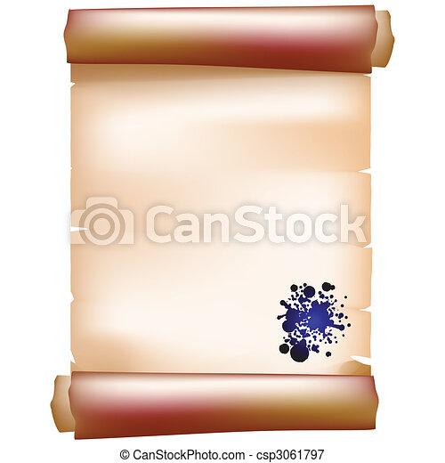 paper scroll - csp3061797