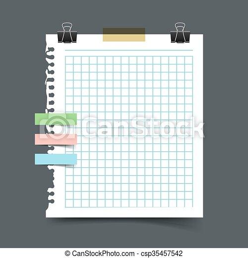 Paper sheet torn from a notebook  - csp35457542