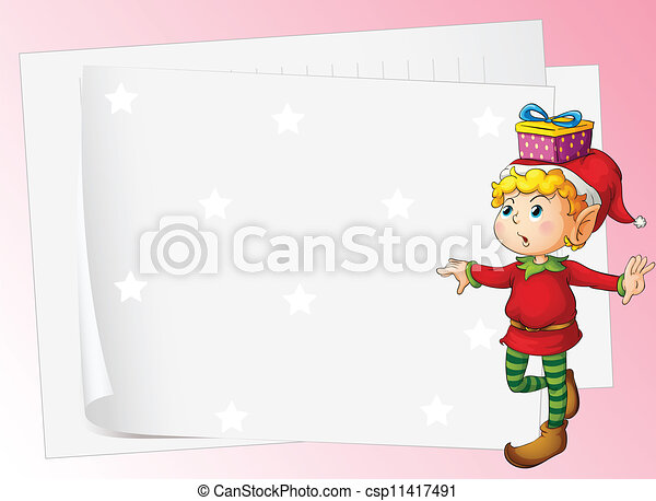 paper sheets and boy - csp11417491