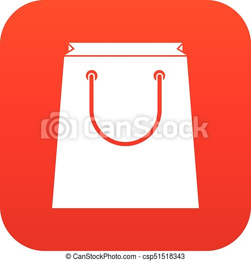 paper shopping bag icon digital red for any design isolated eps rh canstockphoto com
