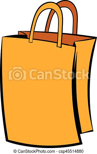 paper shopping bag icon icon cartoon paper shopping bag vector rh canstockphoto co uk