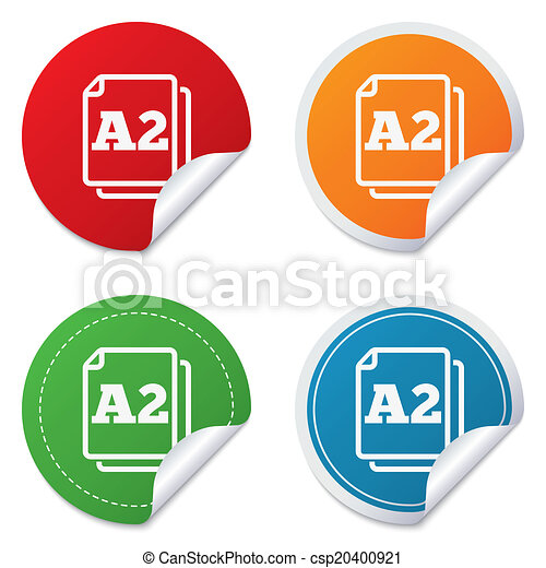 Paper size A2 standard icon  Document symbol