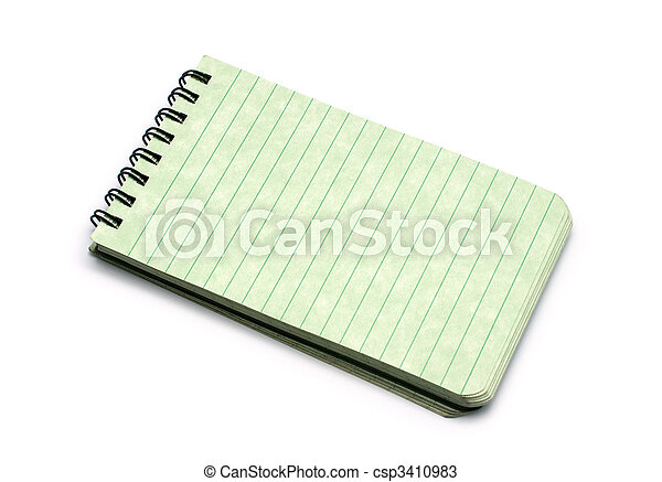 paper spiral notebook isolated on white 1 - csp3410983