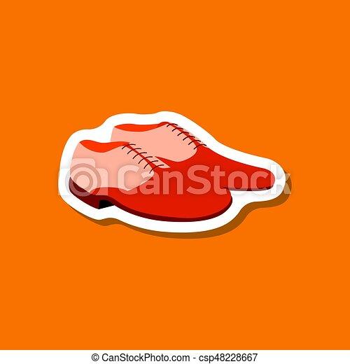 paper sticker fashion footwear Pair of men shoes - csp48228667