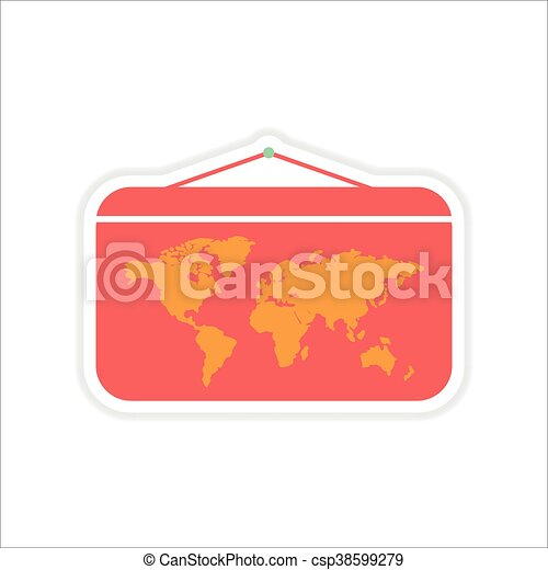Paper sticker on white background world map paper sticker paper sticker on white background world map csp38599279 gumiabroncs Choice Image