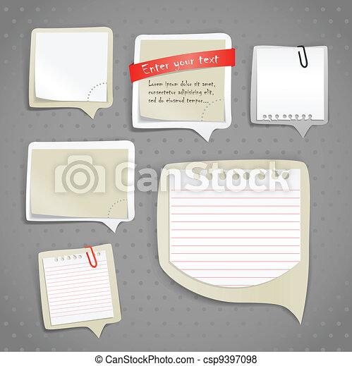 Paper text bubbles clip-art - csp9397098