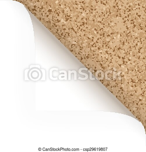 Paper - top corner - cork structure - csp29619807
