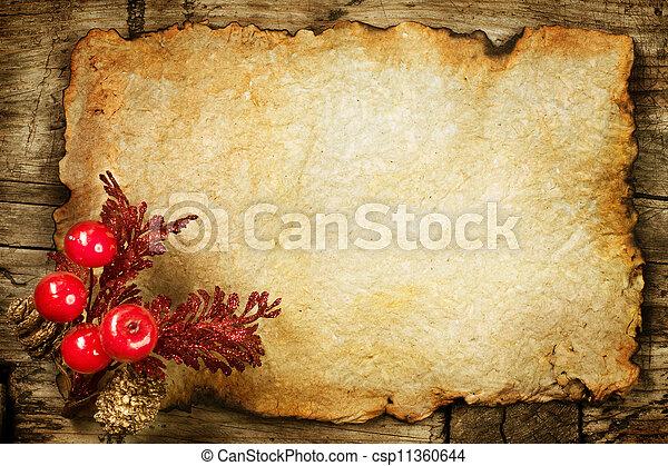 paper., vecchio, decorazioni, copyspace, natale - csp11360644