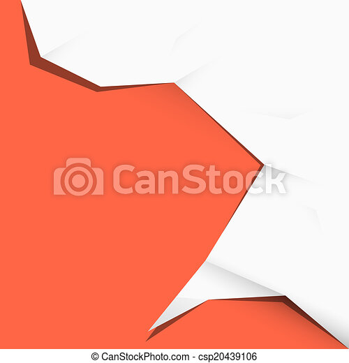 Paper Vector Illustration on Red Background - csp20439106