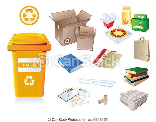 Paper waste and garbage - csp6845102