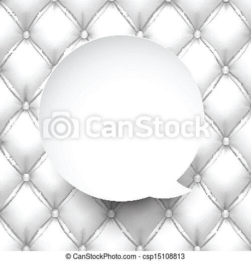 Paper white round speech bubble. - csp15108813