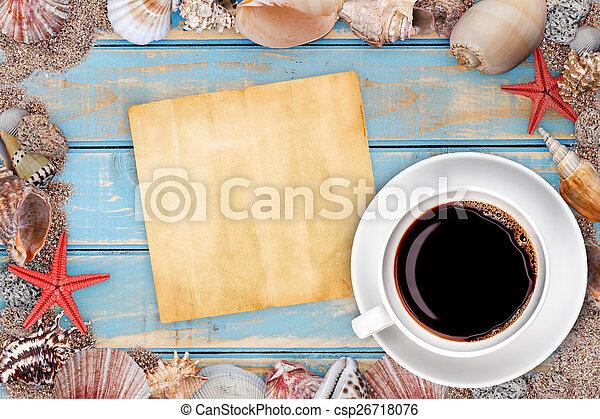 Paper with seashells - csp26718076