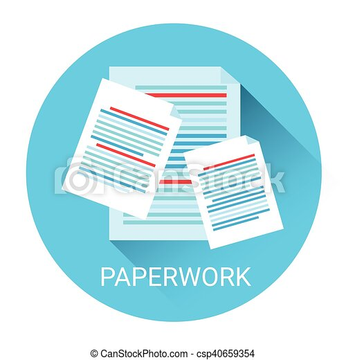 Paper Work Document Contract Concept Business Icon Flat  Clipart