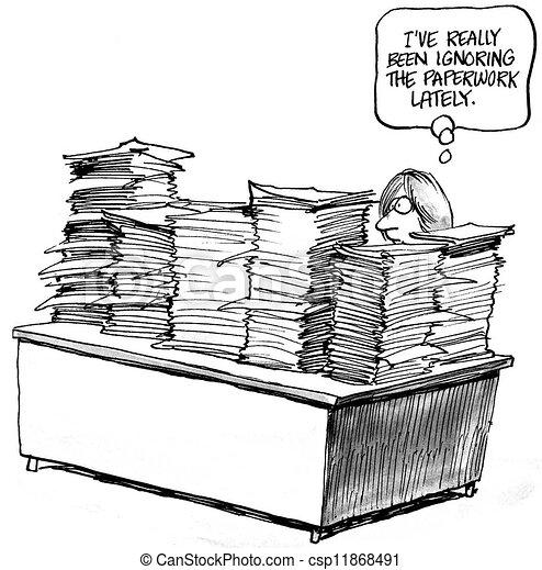 paperasserie, i've, été, ignorer, lately, really - csp11868491