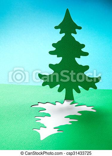 papercraft, 主題, ペーパー, 背景, クリスマス, 手ざわり - csp31433725