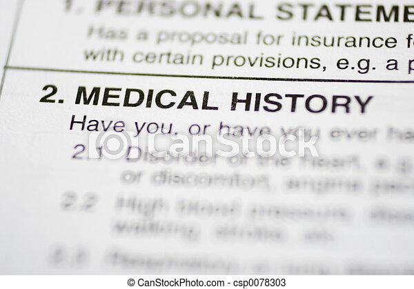 paperwork #1 - Medical History - csp0078303
