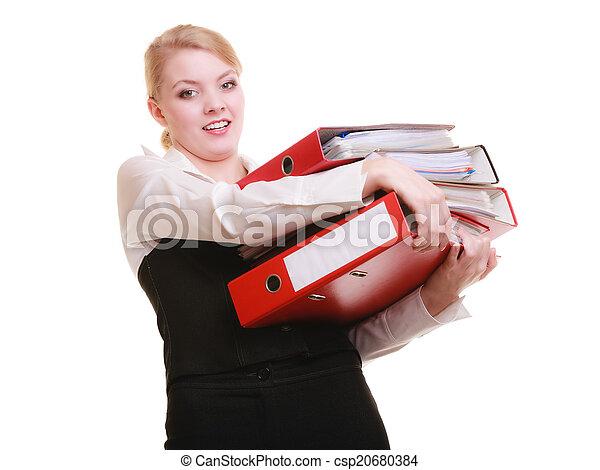 Negocios y papeleo. Cansado - csp20680384