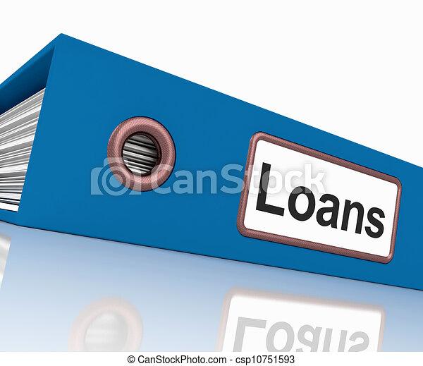 paperwork, udlåning, behersker, låne, fil, lån, eller - csp10751593