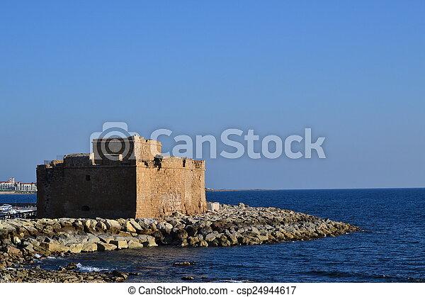 Paphos venetians Castle, Cyprus - csp24944617
