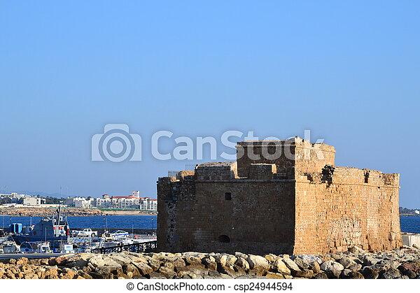 Paphos venetians Castle, Cyprus - csp24944594