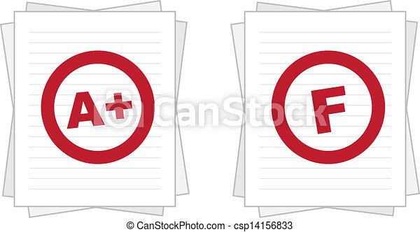 papier, évalué, empilé - csp14156833