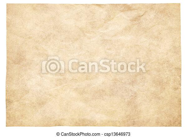 papier, altes  - csp13646973