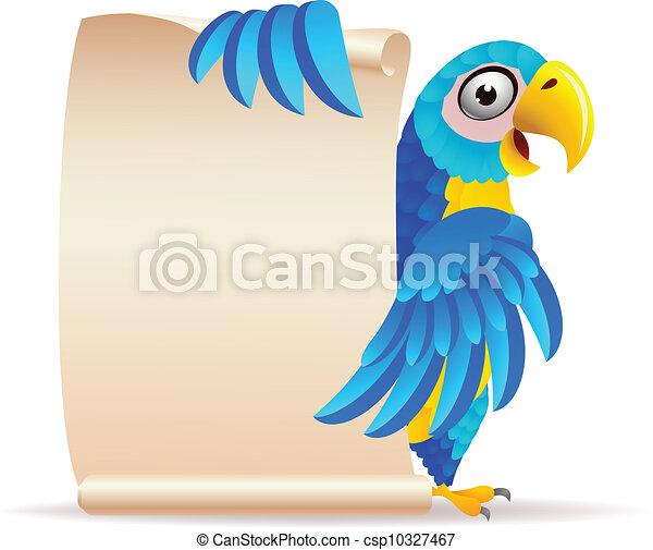 papier, ara, ptak, woluta - csp10327467