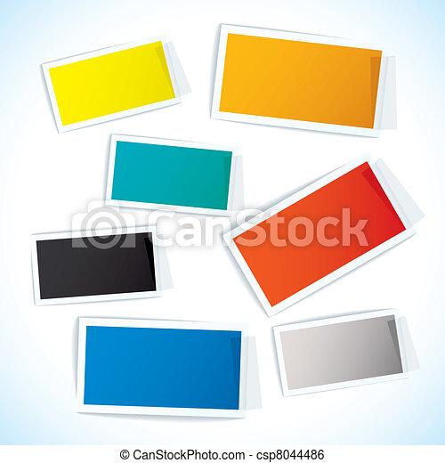 papier, bande, étiquette - csp8044486
