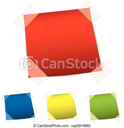 papier, bande, étiquette - csp5914662