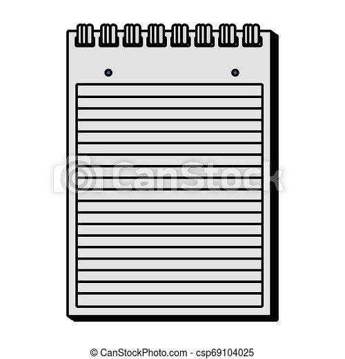 papier, bloc-notes, isolé, icône - csp69104025