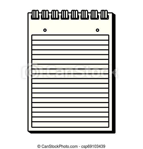 papier, bloc-notes, isolé, icône - csp69103439